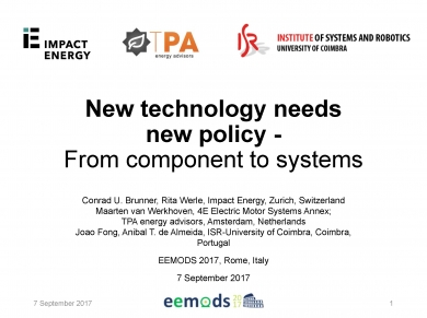 """New technology needs new policy"" (EEMODS'17/ppp)"