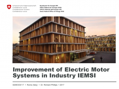 """Improvement of Electric Motor Systems in Industry (IEMSI)"" (EEMODS'17/ppp)"