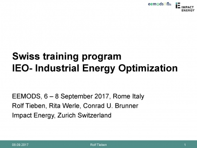 """Swiss training for Industrial Energy Optimization"" (EEMODS'17/ppp)"