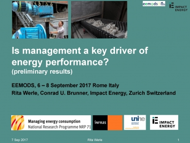 """Is management a key driver of energy performance?"" (EEMODS'17/ppp)"